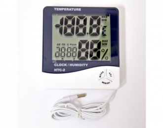 Digital Thermometer/Hygrometer With Probe